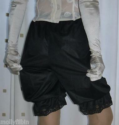 Vintage inspired Victorian~Edwardian style black bloomers~pettipants~culottes