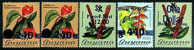 GUYANA Sc.# 549A, 621, 703, 703A, Q4 Surcharges NH Stam