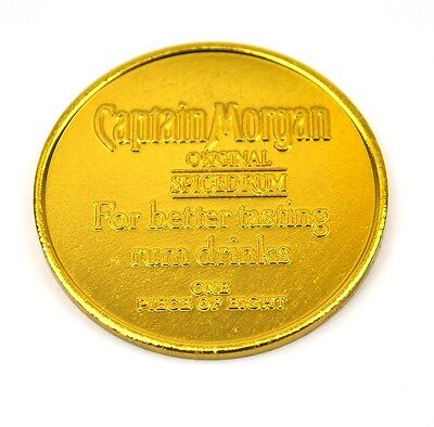 Captain Morgan Aluminum Dublone Münze Token Chip gold-farbig