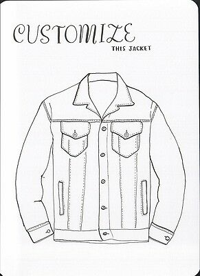 (16965 ) Colour It In Postcard - Fashion - Customize this Jacket