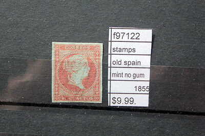 Stamps Old Spain Mint No Gum 1855 (F97122)