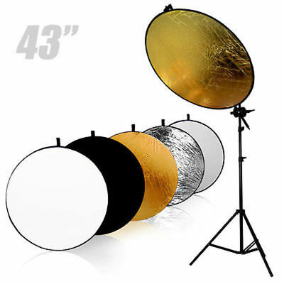 NEW Reflector Kit 110CM 5 IN 1 REFLECTOR+Swivel Head Arm SUPPORT+LIGHT STAND