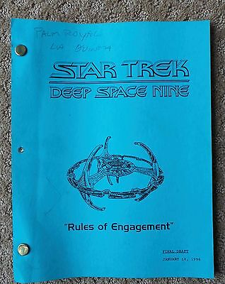 Star Trek Deep Space Nine Ds9 Tv Series Show Script Episode Rules Of