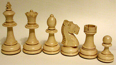 Chess Chess figures Maple in fabric bag, polished, Handicraft, KH 98 mm