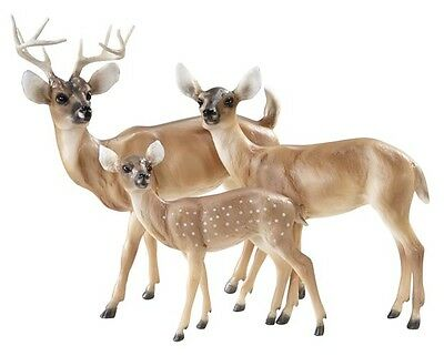 Breyer Traditional size Deer Family set 1734 Buck, Doe and Fawn