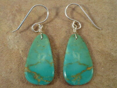 Ronald Chavez Kewa Lovely Small Turquoise Slab Earrings