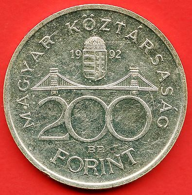 1992 Hungary 200 Forint Coin ( 12 Grams .500 Silver )