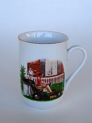 John Deere Coffee Mug Cup 1989 Limited Edition Dad Riding Mower Tractor