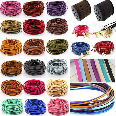 Lots sale 10yd 3mm Jewelry Making Thread Cords DIY Suede Leather String 16 Color
