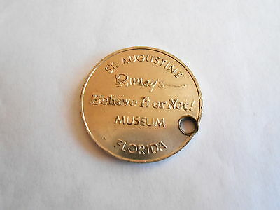 Vintage Ripleys Believe It Not Museum St Augustine FL Good Luck Souvenir Token