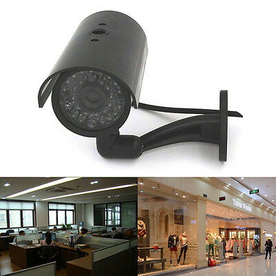 Quality Dummy Fake Outdoor Indoor Security Camera Night Blinking LED BLACK HU