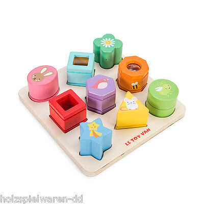 """Le Toy Van pl089 Pegging Game """" Sensory Shapes """" NEW Wood! #"""