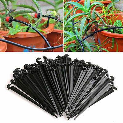 100Pcs/Set 4/7mm Micro Hose Fixed C-Type Holders Drip Irrigation Accessories New