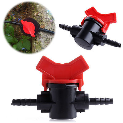 5pc/set 4/7mm Practical Coupling Pipe Irrigation Water Hose Switch Plastic Valve