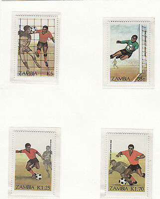 (32990) Zambia Football World Cup 1986 MNH U/M Mint