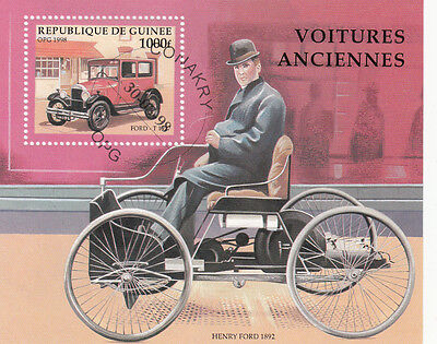 (21574) Guinea - Old Cars Minisheet - VF used 1998