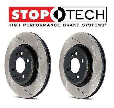 FRONT LEFT /& RIGHT Stoptech SportStop Drilled Slotted Brake Rotors STF46060