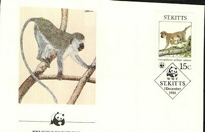 (70318) FDC - ST.Kitts - Singe - 1986
