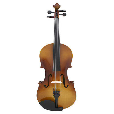 4/4 Full Size Natural Acoustic Wood Color Violin Fiddle with Case Bow Rosin
