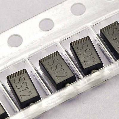 50PCS SS12 1N5817 1A/20V SMA DO-214AC SMD Schottky Diodes NEW