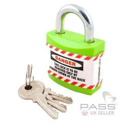 Lockout Jacket Padlock with Regular Shackle - Key Different (Green)