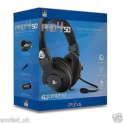 Playstation 4 Officially Licensed PRO4-50 Stereo Gaming Chat Headset PS4 NEW