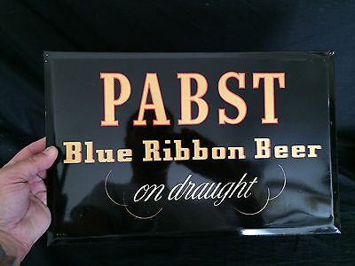 Pabst Blue Ribbon TOC Beer Sign Tin PBR Bar