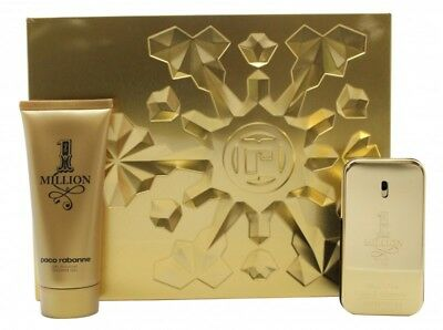 Paco Rabanne 1 Million Gift Set 50Ml Edt + 100Ml Shower Gel - Men's For Him. New