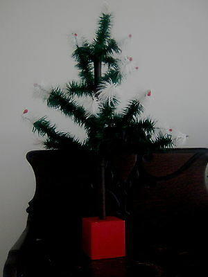 """Feather Tree Real Goose Feathers Signed dated 2005 20"""" Feather Christmas"""