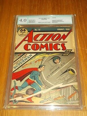 Action Comics #15 Egc 4.0 Conserved Grade Cream To Off White Pages (Sa)