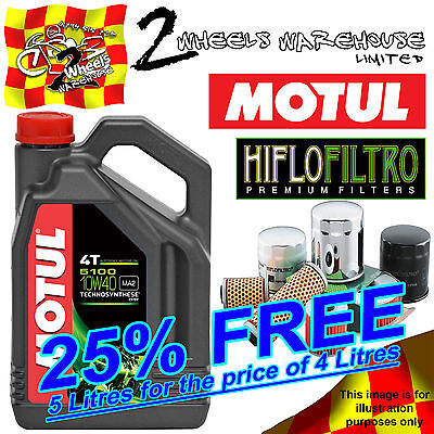 5L Motul 5100 10W40 Engine Oil And Hf204 Filter Change Triumph 800Tiger Xc 2015