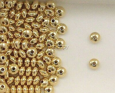 14K Gold Filled 4mm Plain Rondelle  Spacer Beads,  Choice of Lot Size & Price
