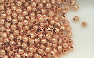 Solid Copper 4mm Hammered Round Spacer Beads,  Choice of Lot Size & Price