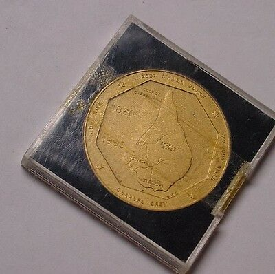 1960 Burke & Wills Centenary medal by Numismatic Assocation of Victoria.