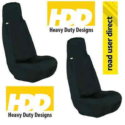 2 x HDD Universal Car Front Seat Cover BLACK PAIR - Inc Tracked Courier