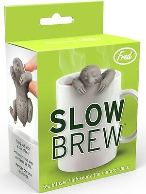 Kitchencraft Fred Slow Brew Loose Tea Leaf Infuser - Sloth Shaped In Cup Brewer