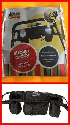 JOLLY JUMPER Stroller Caddy Fits Most Strollers (Black) NEW