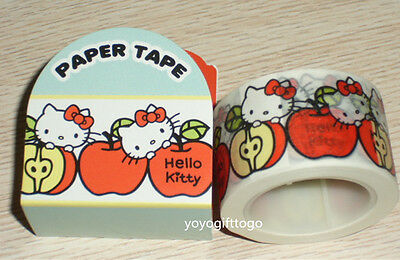 2014 Japan Sanrio Hello Kitty PAPER Tape Sticker Adhesive Tape