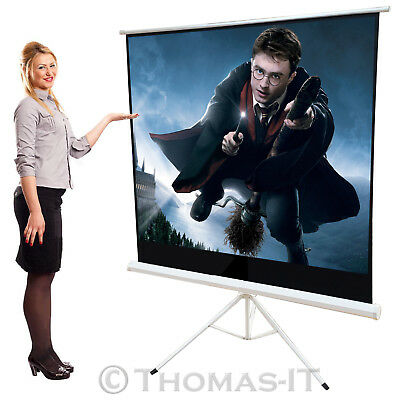 125x 125cm Portable Tripod HD PROJECTION SCREEN Matte Pull Down Projector Cinema