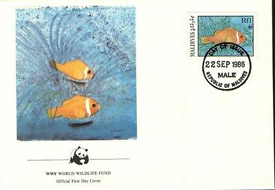 (70263) FDC Maldives - Sea Fish - 1986