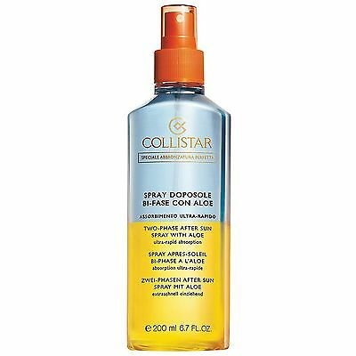 NEW Collistar Suncare Two-Phase After Sun Spray With Aloe 200ml FREE P&P