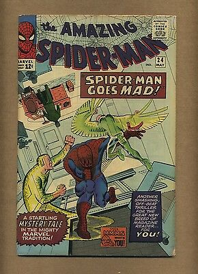 Amazing Spider-Man 24 (Solid!) Mysterio appearance; Ditko; Marvel; 1965 (c#12090