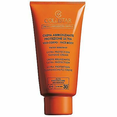 NEW Collistar Self Tan Ultra Protection Tanning Cream Face-Body SPF30 150ml