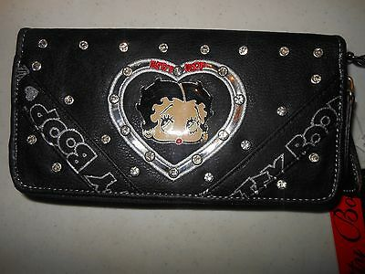 Betty Boop Wallet - Brand New in Box - Black  - FREE US SHIPPING!!