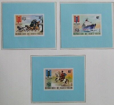 UPPER VOLTA 1974 UNLISTED ImPerf MNH Sheets, Horse-Stage Coach-Space-Ship-Plane
