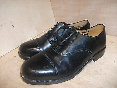 Size 8 black male parade shoes! raf & aircadet shoes! genuine issue!