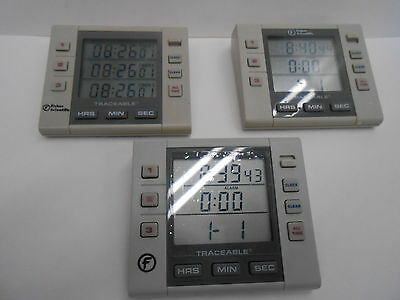 Lot Of 3 Fisher Scientific 06-662-5 Traceable Alarm Timers