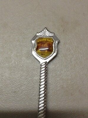 FREE SHIPPING!! VINTAGE ANTIQUE SOUVENIR SPOON- Grant's Farm MO