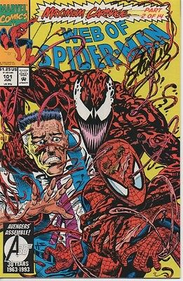 STAN LEE personally signed Marvel comic - WEB OF SPIDERMAN