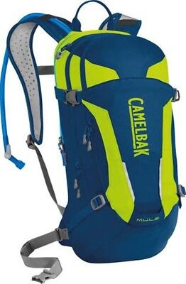 Camelbak Mule Hydration Pack with 3L Bladder - Blue /Lime